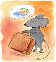мышонок и чемодан