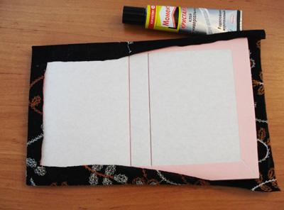 как сделать обложку из ткани