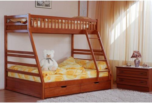 двухъярусная красивая кровать