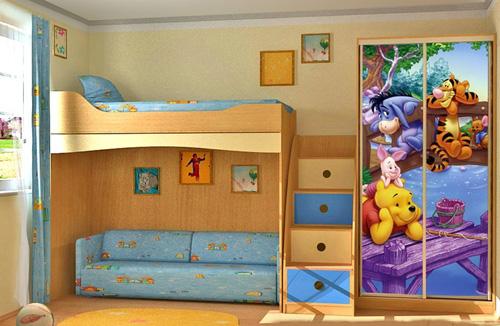 детский шкаф с фотопечатью